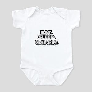 """""""Eat. Sleep. Chromatography."""" Infant Bodysuit"""