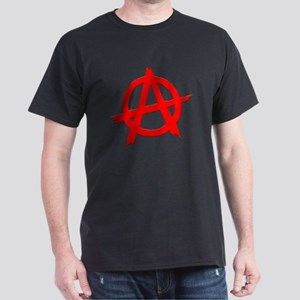 Anarchy Symbol Red Dark T-Shirt