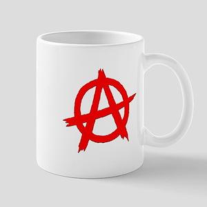 Anarchy Symbol Red Mug
