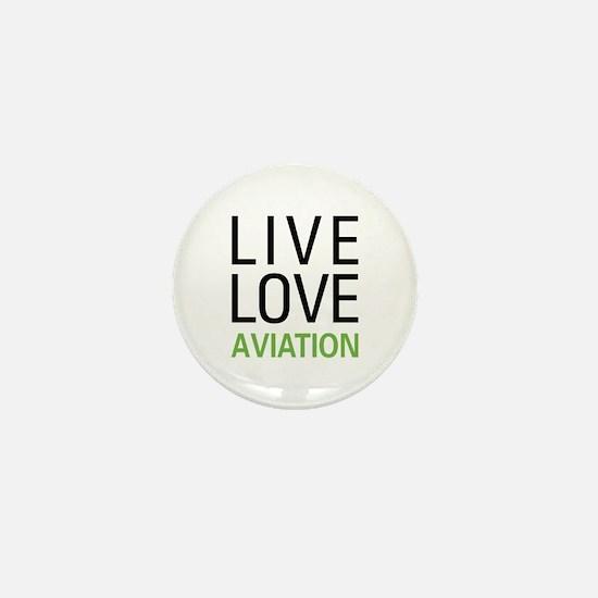 Live Love Aviation Mini Button