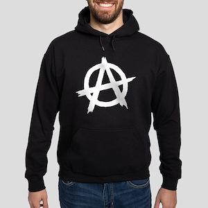 Anarchy Symbol BW Hoodie (dark)