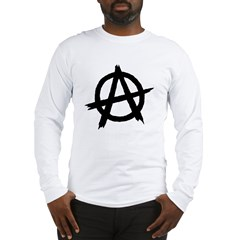 Anarchy Symbol BW Long Sleeve T-Shirt