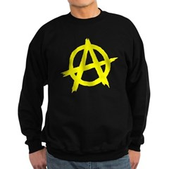 Anarchy Symbol Yellow Sweatshirt (dark)