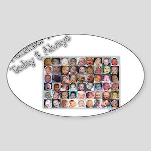 Remember Me Oval Sticker