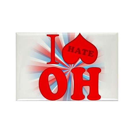 I No Heart Ohio Rectangle Magnet