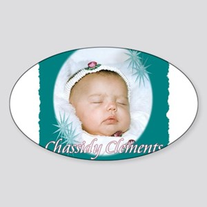 Chassidy Oval Sticker