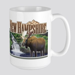 New Hampshire Moose Large Mug