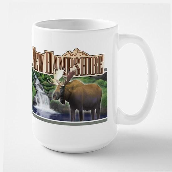 New Hampshire Moose Large Mug