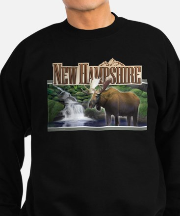 New Hampshire Moose Sweatshirt (dark)