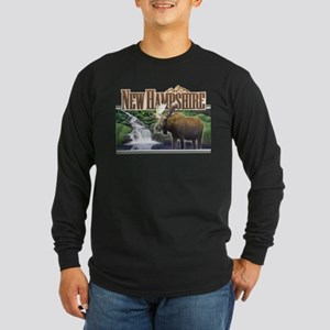 New Hampshire Moose Long Sleeve Dark T-Shirt