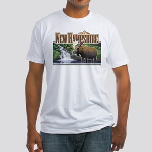 New Hampshire Moose Fitted T-Shirt