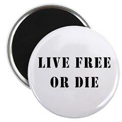 """Live Free or Die 2.25"""" Magnet (100 pack)"""