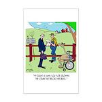 Camel Sues Straw Farmer Mini Poster Print