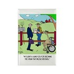 Camel Sues Straw Farmer Rectangle Magnet (10 pack)