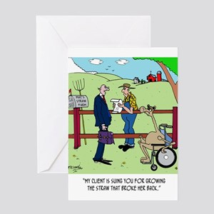 Camel Sues Straw Farmer Greeting Card