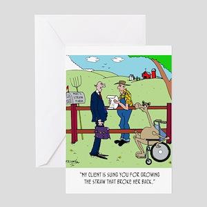 Camel Sues Straw Farmer Greeting Card