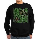 Christmas Pine Cones Sweatshirt (dark)