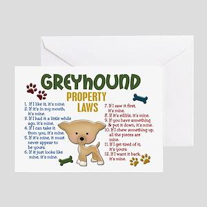 Greyhound Property Laws 4 Greeting Card