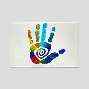 Massage Hand Rectangle Magnet