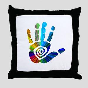 Massage Hand Throw Pillow