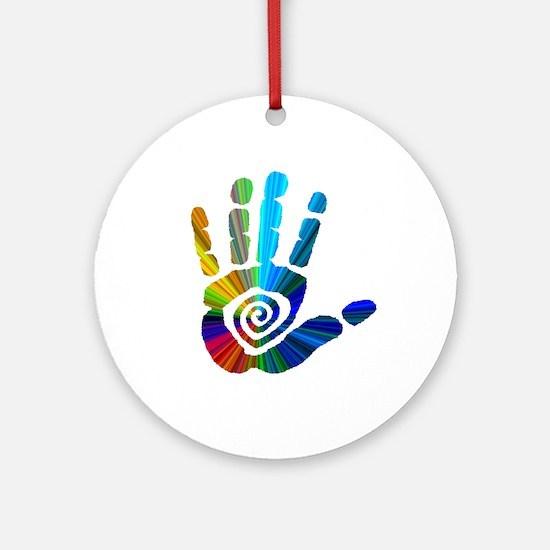 Massage Hand Ornament (Round)