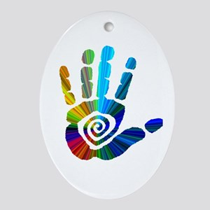 Massage Hand Ornament (Oval)