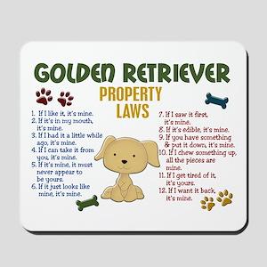 Golden Retriever Property Laws 4 Mousepad