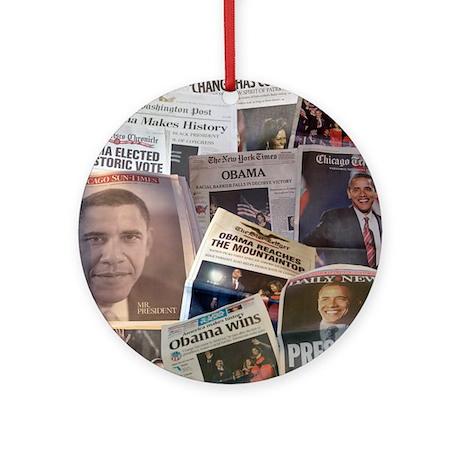 Obama Victory Collage Ornament (Round)