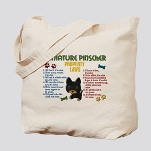Miniature Pinscher Property Laws 4 Tote Bag