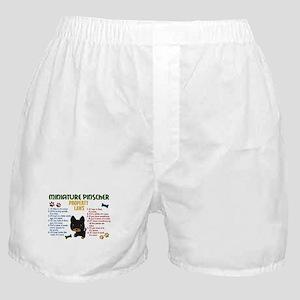 Miniature Pinscher Property Laws 4 Boxer Shorts