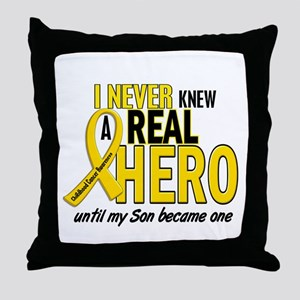Never Knew A Hero 2 GOLD (Son) Throw Pillow