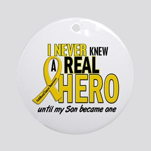 Never Knew A Hero 2 GOLD (Son) Ornament (Round)
