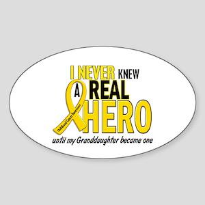Never Knew A Hero 2 GOLD (Granddaughter) Sticker (
