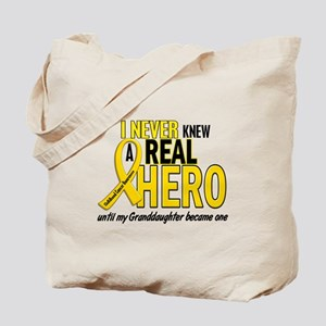 Never Knew A Hero 2 GOLD (Granddaughter) Tote Bag