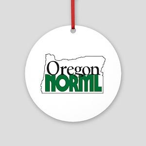 Oregon NORML Logo Ornament (Round)