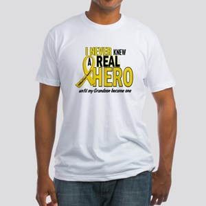 Never Knew A Hero 2 GOLD (Grandson) Fitted T-Shirt