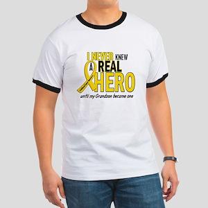 Never Knew A Hero 2 GOLD (Grandson) Ringer T