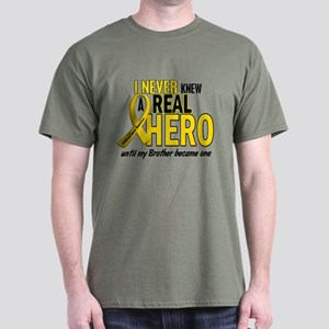 Never Knew A Hero 2 GOLD (Brother) Dark T-Shirt