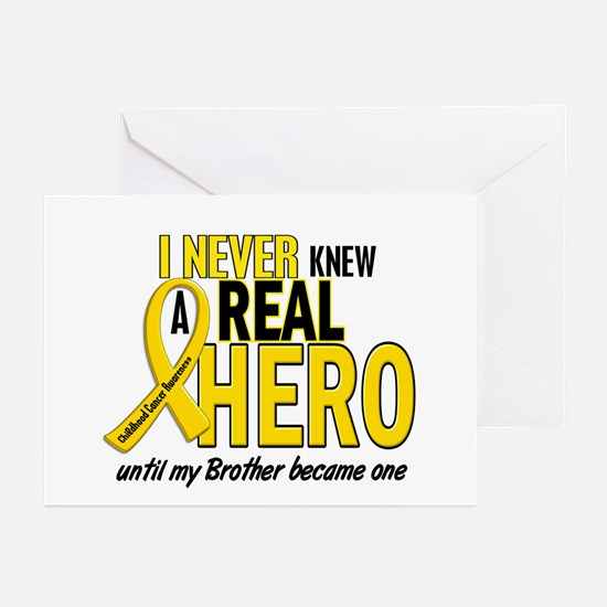 Never Knew A Hero 2 GOLD (Brother) Greeting Cards