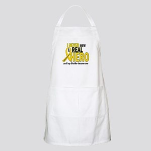 Never Knew A Hero 2 GOLD (Brother) BBQ Apron