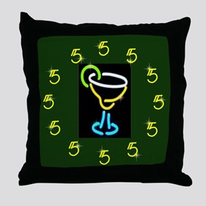 It's Always 5:00 Throw Pillow