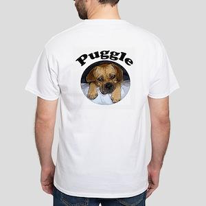 Pug + Beagle White T-Shirt