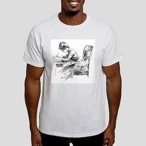 Writing Lady 1 Light T-Shirt