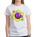 Peace Blossoms /purple Women's T-Shirt