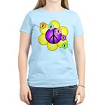 Peace Blossoms /purple Women's Light T-Shirt