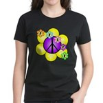 Peace Blossoms /purple Women's Dark T-Shirt