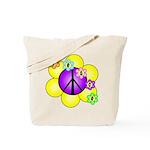 Peace Blossoms /purple Tote Bag