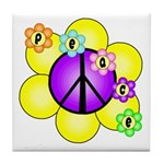 Peace Blossoms /purple Tile Coaster