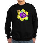 Peace Blossoms /purple Sweatshirt (dark)