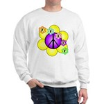 Peace Blossoms /purple Sweatshirt